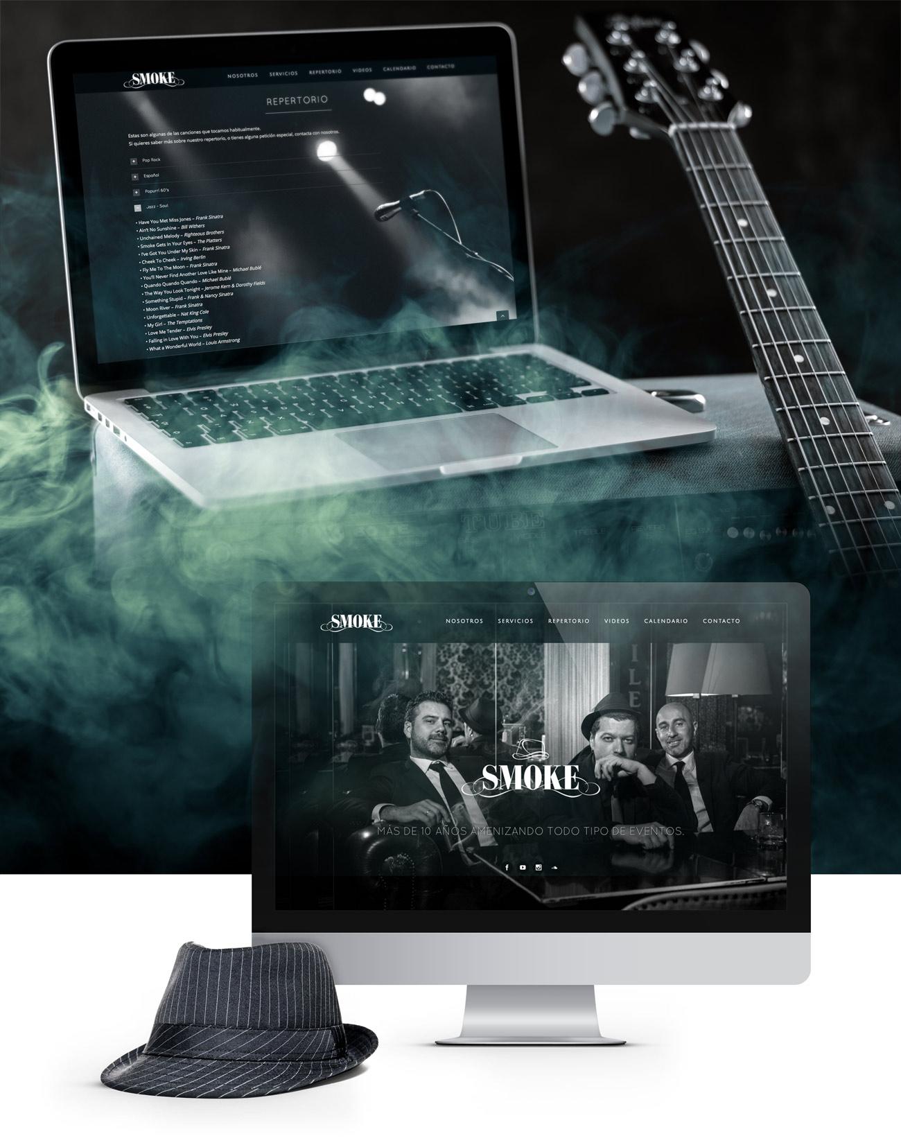 Diseño web Smoke trio